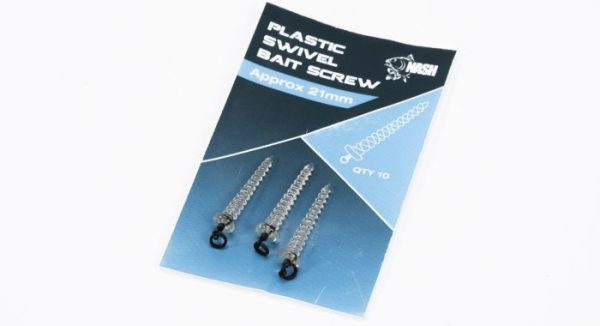 Nash Plastic Swivel Bait Screw 21mm NEW