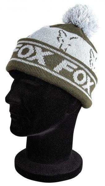Fox Green&Silver Lined Bobble