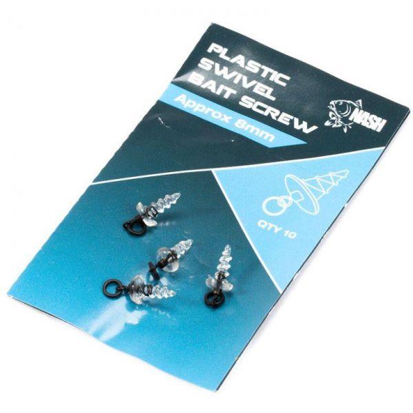 Nash Plastic Swivel Bait Screw 8mm