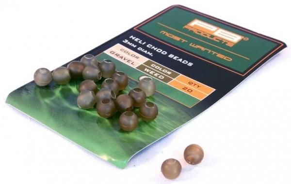 PB Products Heli-Chod Beads Gravel-Weed 20 Stk