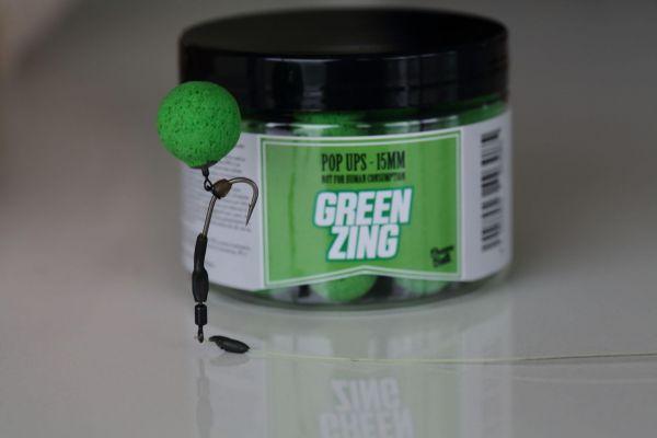 Dreambaits Green Zing Pop Ups (Fluo) 50gr