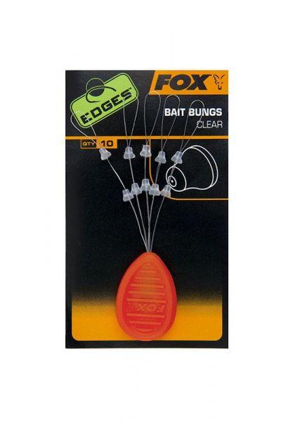 Fox Edges Bait Bungs Clear x 10