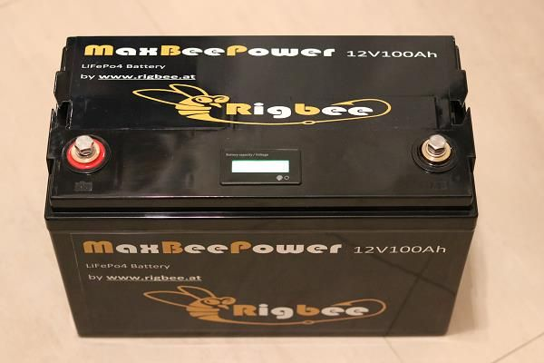 Rigbee MaxBeePower 12V100Ah LiFePo4 inkl. Ladegerät