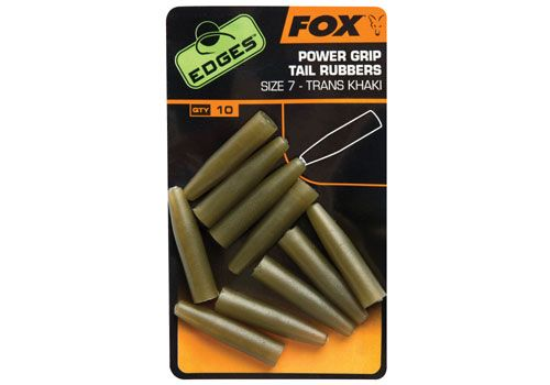 Fox Edges Surefit Tail Rubbers Size 7x 10pc