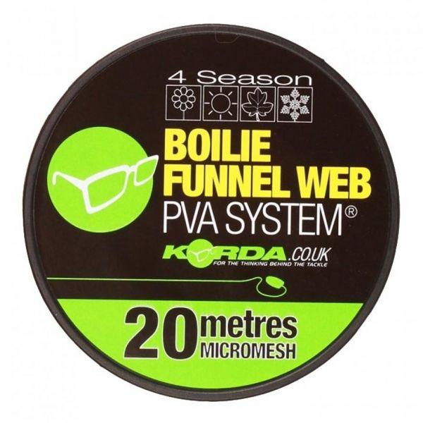 Korda Boilie Funnel Web MICROMESH 20M Refill