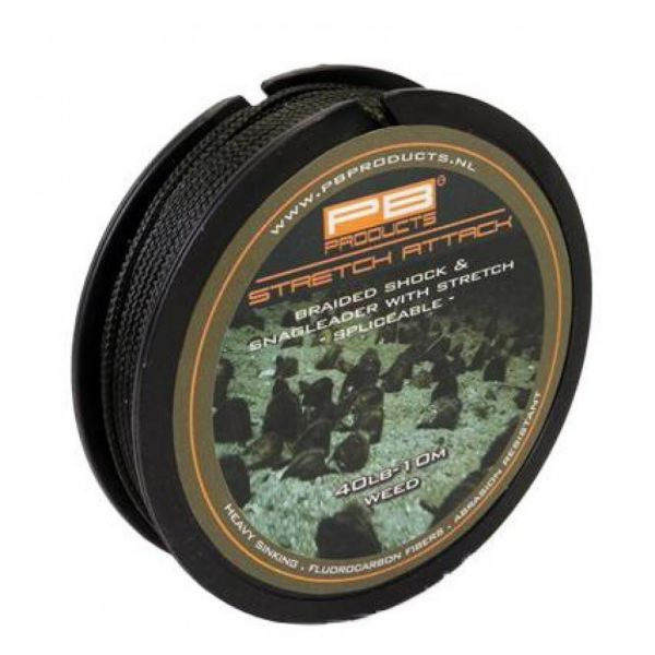 PB Products Stretch Attack Shockleader 40lb 10m