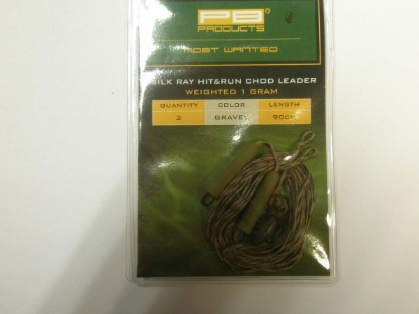 PB Products Silk Ray Hit & Run Chod Leader 1g 90cm 2 Stk