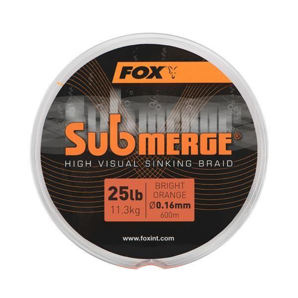 Fox Submerge High Visual Sinking Braid Bright Orange 0,16mm 25lbs 600m - ***NEW2020***