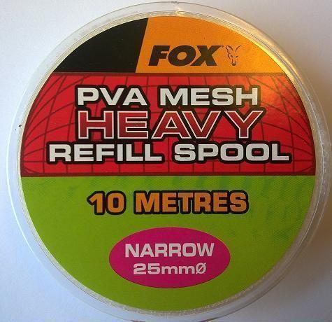 Fox Narrow 25m REFILL SPOOL HEAVY mesh