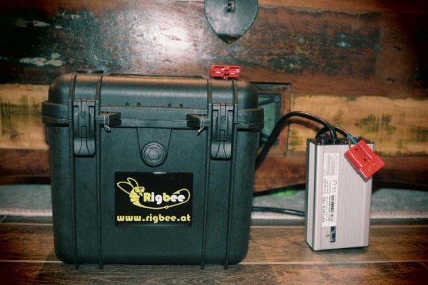 Rigbee MaxBeePower 50aH mit Akkubox und Ladegerät