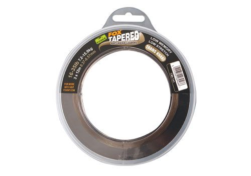 Fox Edges Soft Tapered Leaders Trans Khaki x 3 16-35lb 0.37- 0.57