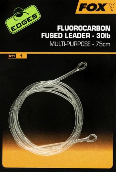 Fox Edges Fluorocarbon Fused Leaders 75cm