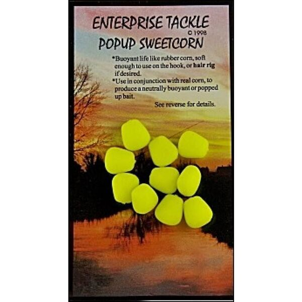 Enterprise Tackle Pop Up Sweetcorn Fluoro Yellow / Unflavoured