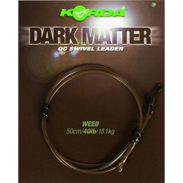 Korda Dark Matter Leader 50cm QC Swivel