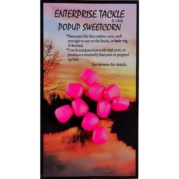 Enterprise Tackle Pop Up Sweetcorn Fluoro Pink / Unflavoured