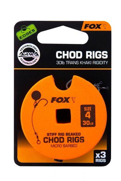 Fox Edge Armapoint stiff rig Chod rigs