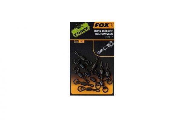 Fox Edges Kwik Change Heli Swivels Size 7 x 10