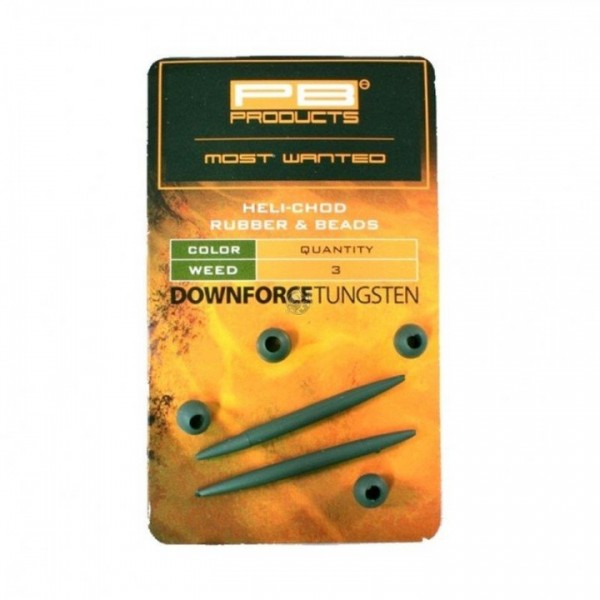 PB Products DT X-Small Heli-Chod Rubber und Beads 4 Stk