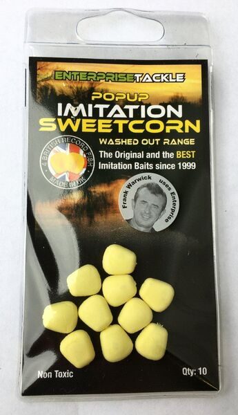 Enterprise Tackle ET Pop Up Sweetcorn Washed Out Yellow / Unflavoured