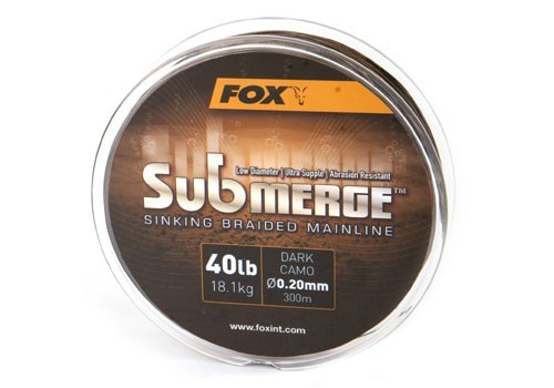 Fox Submerge Dark Camo Sinking Braid x 600m 0.16mm 25lb-11.3kg