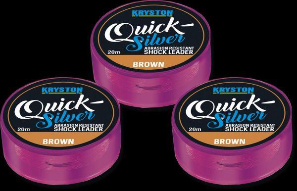 Kryston Quicksilver Shock Leader Gravel Brown