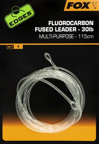 Fox Edges Fluorocarbon Fused Leaders 115cm