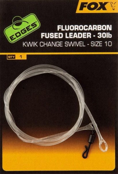 Fox Fluorocarbon fused leader - size 10 kwik change
